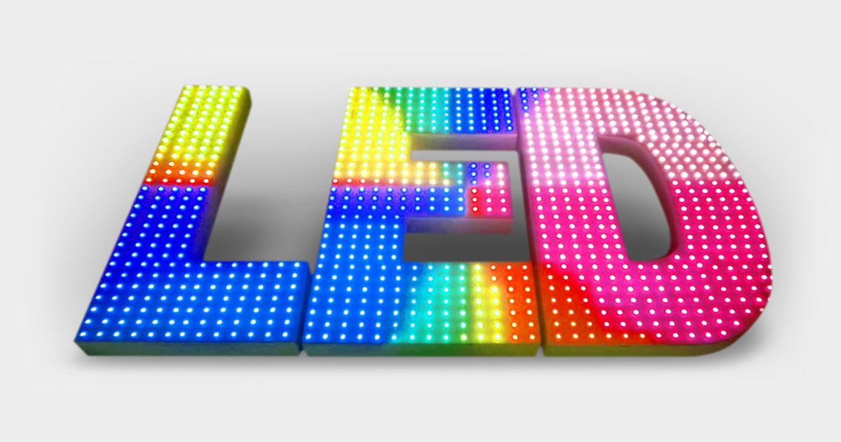 LED Pixel Kutu Harf